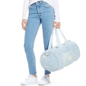 Herschel Sutton Mid Volume Blue Fleece Duffle Bag
